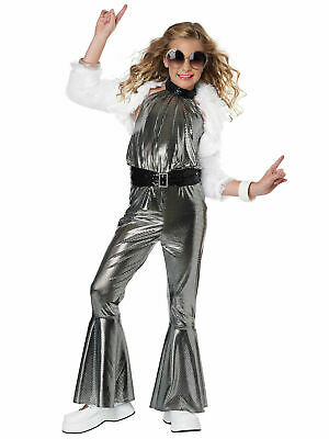 Girls Dancing Queen Costume Childs 70s Pop Star Disco Diva Fancy Dress Outfit • 19.95£