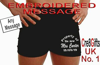 Personalised Boxer Shorts Mens Wedding Anniversary MIXED Text Groom Property Of • 9.99£