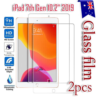 AU11.99 • Buy 2X Tempered Glass LCD Screen Protector For Apple IPad 7 /7th Gen 10.2  2019