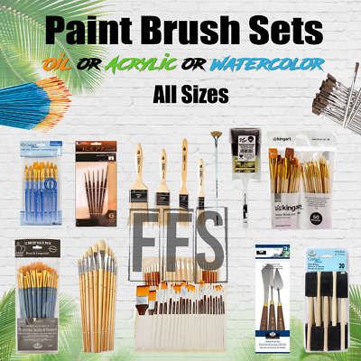 Art Paint Brushes Sets Oil Acrylic Watercolor Canvas Painting Brush Lot PACKS • 28.50£