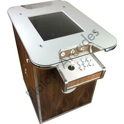 £985.95 • Buy Walnut Arcade Cocktail Table 412 Retro Games 2 Player Gaming Cabinet UK Made