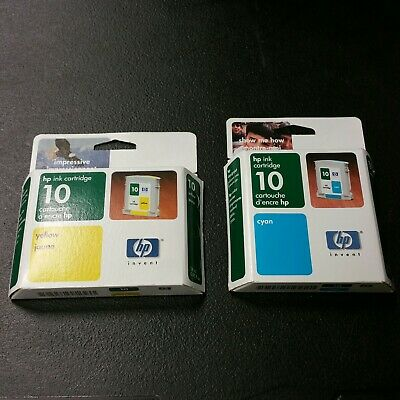 $7.95 • Buy NEVER OPENED - Genuine HP 10 Color Printer Ink Cartridge Cyan & Yellow EXP=2004