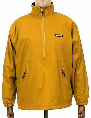 £118.95 • Buy Obey Clothing Hard Work Pullover Jacket - Yellow