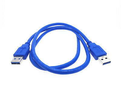 AU5.89 • Buy 1x USB 3.0 A Type Male To Male USB Extension Cable Blue 1m