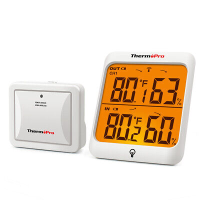 $26.99 • Buy ThermoPro Indoor Outdoor Thermometer Hygrometer Wireless LCD Thermometer Outdoor
