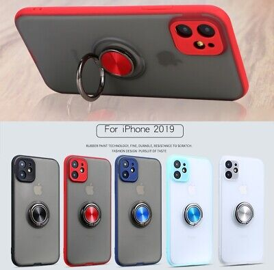 AU6.95 • Buy IPhone 11 Pro Xs Max XR 8 7 6 Plus Case Magnetic TPU Ring Matte Holder Stand