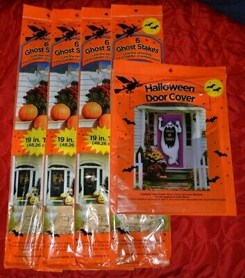 $ CDN12.49 • Buy Variety Of Outdoor Halloween Decorations & Leaf Bags - 25, 21, 16, Or 8 Pieces