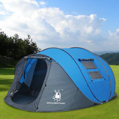 4-6 Person Large Tent Double Layer Auto Pop Up Family Outdoor Camping Tent  • 159.89£