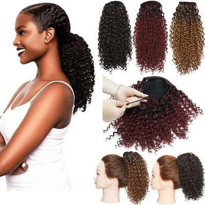 £13.50 • Buy Afro Kinky Curly Ponytail Hair Extensions Drawstring As Human Hair Pony Tail UK