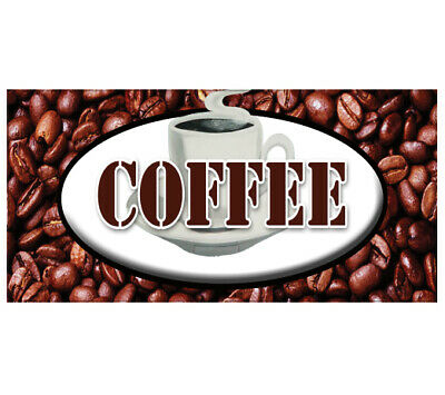 COFFEE Decal Shop House Sign Cafe Beans Hot Machine New Cart Trailer Stand • 15.01£