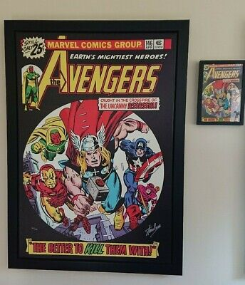 Marvel Boxed Canvas - Avengers #146 Earth's Mightiest Heroes Signed By Stan Lee • 1,995£