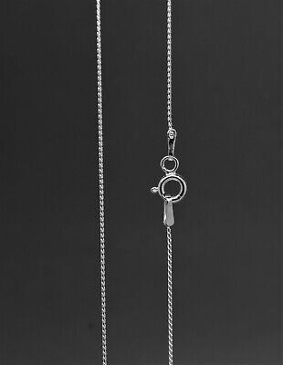 £5.99 • Buy 925 Sterling Silver Twist Chain Necklaces (Various Sizes Available)