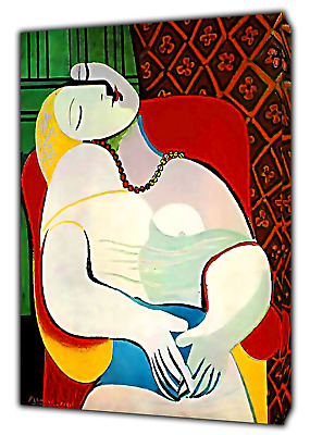 £54.49 • Buy PABLO Picasso The Dream Paint Reprint  PRINT ON FRAMED CANVAS WALL ART Decor