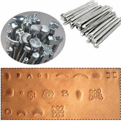 20pcs/Set Leather Working Saddle Making Tools Carving Leather Craft Stamps Tool • 7.39£