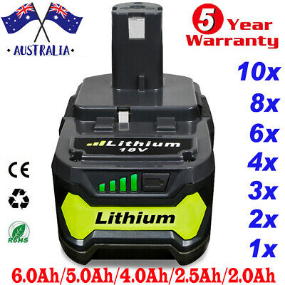 AU43.89 • Buy 18V 6.0Ah Battery For Ryobi ONE+ PLUS Lithium-ion P108 P105 P104 P102 P107 Tools