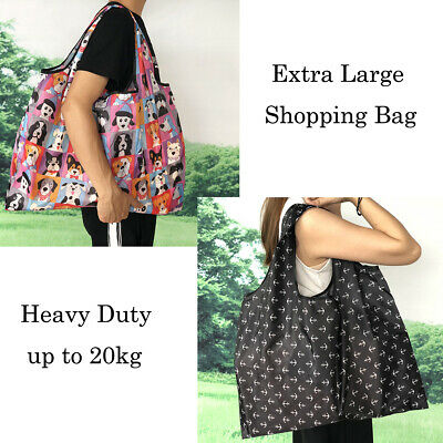 AU6.99 • Buy Extra Large Big Capacity Foldable Shopping Bags Reusable Carry Bag Eco Grocery