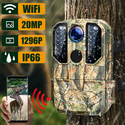 £45.66 • Buy Campark WiFi Wildlife Trail Camera 20MP 1296P Hunting Game Cam Night Vision IP66