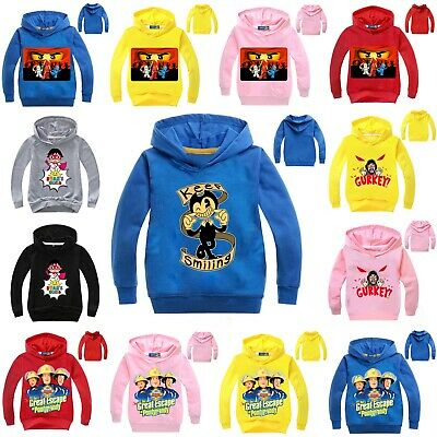 Bendy And The Ink Machine Pullover Hoodie Ryan Toys Review Jumper Gurkey Sweater • 6.49£