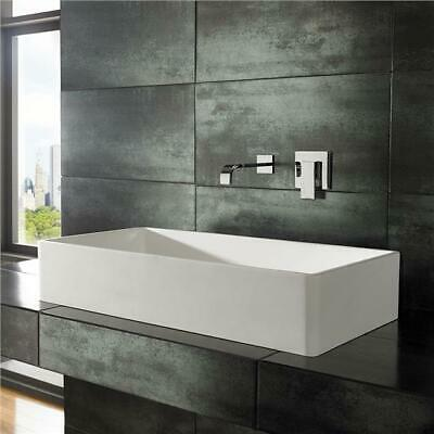 Stone Resin Countertop Sink Large Rectangle White Bathroom Basin 800mm X 400mm • 259£