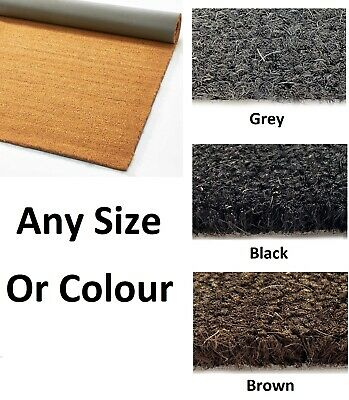 Cut To Size - Coir / Matting Entrance - Foyer Lobby Welcome Reception Foot Dirt • 49.99£