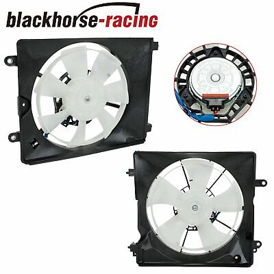 $54.99 • Buy Fit 2012-15 Honda Civic 2013-17 Acura Pair A/C AC Condenser Radiator Cooling Fan