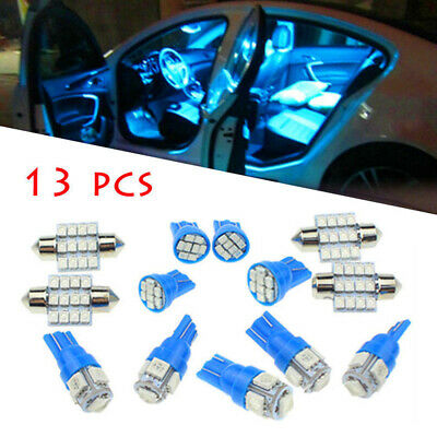13x Car 12V Interior LED Blue Lights For Dome License Plate Lamp Accessories Kit • 6.99£