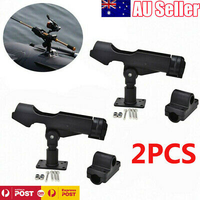 AU25.79 • Buy 2x Adjustable 360 Degree Fishing Rod Holder Rack Stand Kit For Boat Kayak Yacht