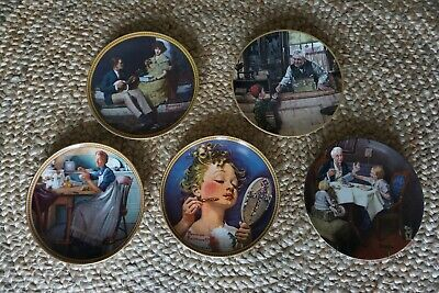$ CDN43.92 • Buy Norman Rockwell Vintage Limited Number Collector Plates 5 Ea EUC Rare