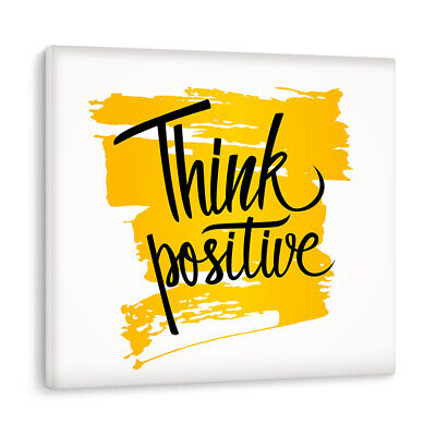 Think Positive Motivational Feel Good Luxury Canvas Wall Art Picture Print Large • 29.95£