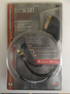 Monster Cable S-video To Scart 1mtr • 7.99£