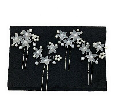 $5.99 • Buy Hair Clips, Hair Pins, Pearl Wedding Bridal Accessory Jewelry For Women.