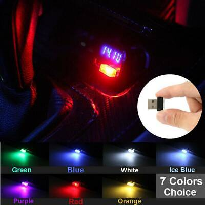 $0.99 • Buy Universal Colorful USB Atmosphere Car LED Light Lamp Car Accessories Lamp Decor