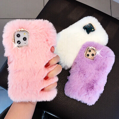 Soft Warm Plush Fluffy Phone Case Cover Comfy Faux Fur For IPhone 11Pro XR 6 7 8 • 3.68£