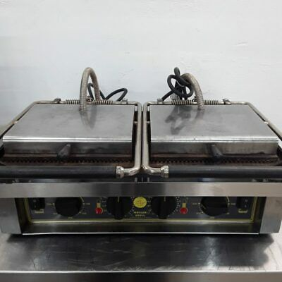 Commercial Contact Panini Grill Press Double Roller Grill • 420£