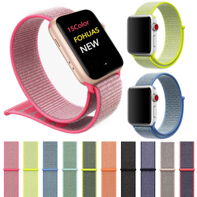 AU9.99 • Buy  Sport Loop Nylon Woven Band Strap For IWatch Apple Watch Series 1 2 3 4 5