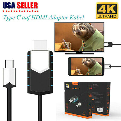 $12.25 • Buy MHL USB Type C To HDMI 1080P TV Cable Adapter For Android Phones Samsung Macbook