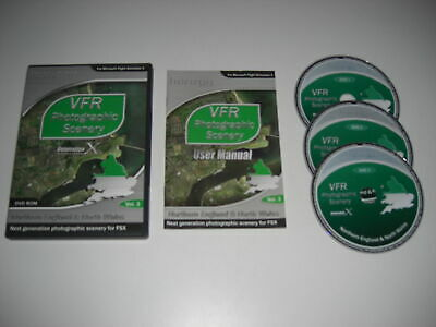 VFR SCENERY Generation X Vol 3 Northern England & North Wales Pc Cd Add-On FSX • 13.99£