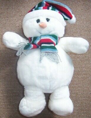 Glitzy & Stripy Chilly And Friends Snowman Soft Toy - Exc - 2003 • 8£