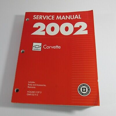 $78.75 • Buy 2002 Chevy Corvette Coupe Convertible Shop Service Body Repair Manual V3 Z06