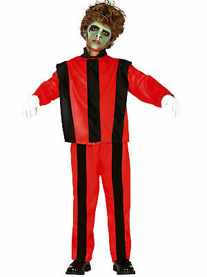 Boys Zombie Thriller Costume Halloween Michael Jackson 80s Fancy Dress Outfit • 10.95£