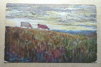 £1.75 • Buy Postcard C.W.Faulkner 'In The Gloaming',Artist Signed,Brent Walker,Cows Grazing