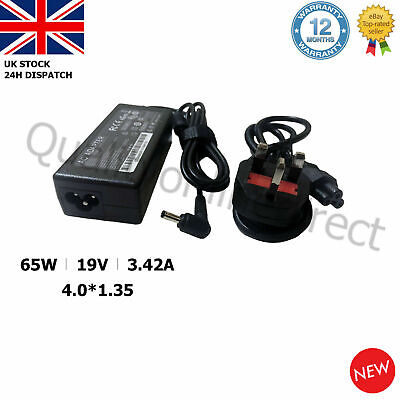 ASUS VIVOBOOK Laptop Charger 19V 45W NOTEBOOK AC Power Supply Adapter + UK Cable • 9.84£
