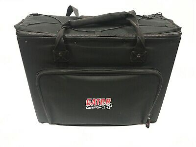 AU88.82 • Buy Gator 4 Space Rack Gig Bag Case Strap Handle Black 4U Portable Padded