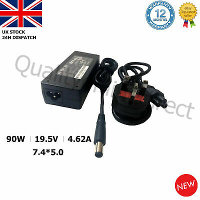 90W 19.5V 4.62A Laptop AC Adapter Charger Dell PA10 Latitude D620 D630 7.4*5.0MM • 9.83£