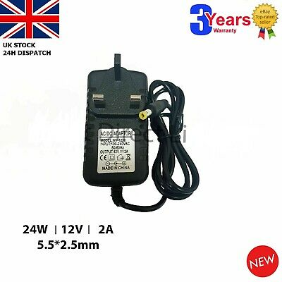 For 12V Swann CCTV DVR Camera KITS Power Supply Adapter 12V 2A AC/DC UK • 9.81£