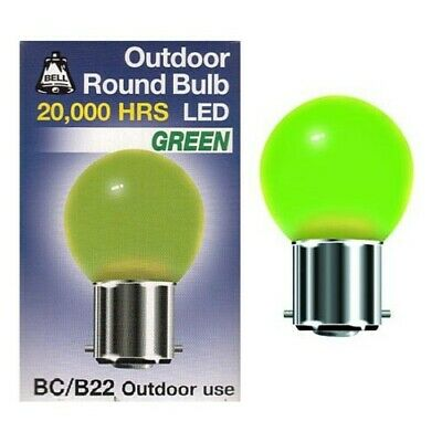 AU11.98 • Buy Bell 1 Watt BC B22 Green Outdoor Round Bulb Led