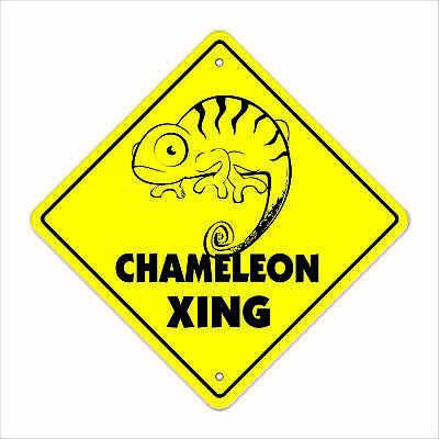 $17.98 • Buy Chameleon Crossing Decal Zone Xing Tall Lizard Supplies Cage Heat Rock