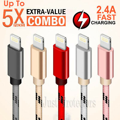AU6.49 • Buy 1X~5X Fast Charging USB Lightning Charger Data Cable For Apple IPhone IPad IPod