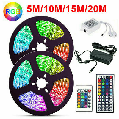 5-20M 300 LED 3528 5050 SMD 12V RGB Music Activated Waterproof Strip Light Tape • 12.99£