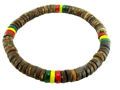 $7.99 • Buy Wood Stretch Friendship Bracelet Girls Women Men Natural Coconut Bead Elastic